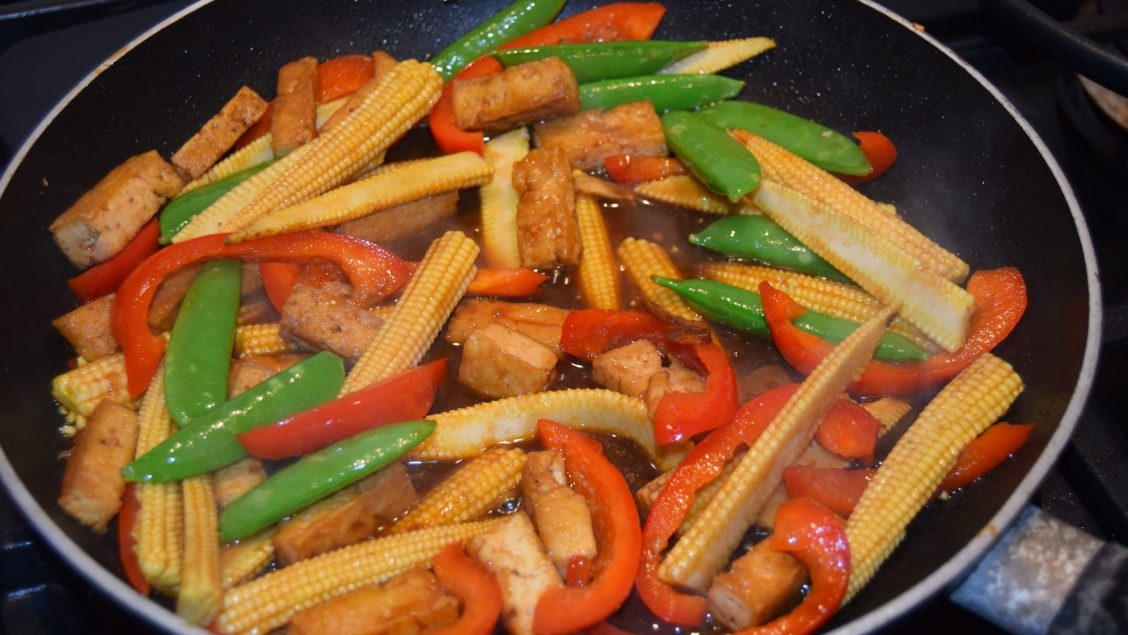 Kids Vegan Tofu stir fry
