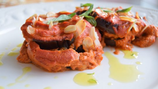 Aubergine and Tomato Gratin