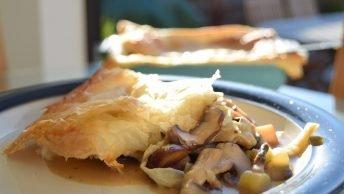 Vegan Mushroom and Chestnut Pie