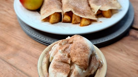 Spiced Apple Crepes